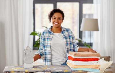 woman doing household