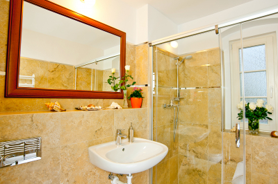 Inside of toilet or bathroom